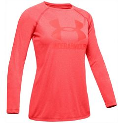 Under Armour Big Girls UA Big Logo Long Sleeve T-Shirt