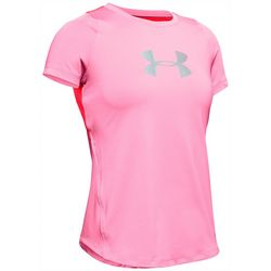 Under Armour Big Girls Jacquard Panel T-Shirt