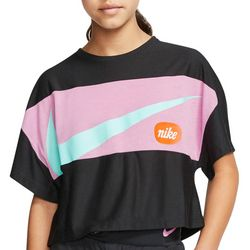 Nike Big Girls Cropped Training T-shirt