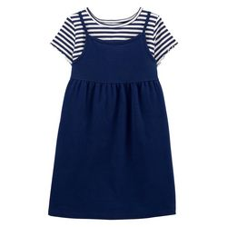 Big Girls 2-pc. Stripe Dress Set