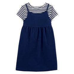 Little Girls 2-pc. Stripe Dress Set