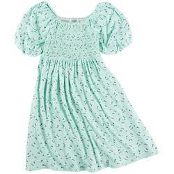 Big Girls Floral Smocked Dress