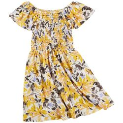 Speechless Big Girls Floral Print Smocked Dress