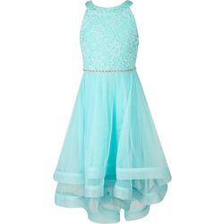 Speechless Big Girls Lace Stone Waist Dress