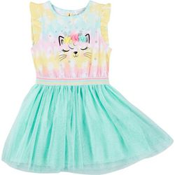 Forever Me Little Girls Tie Dye Caticorn Tutu Dress