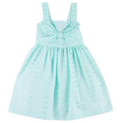 Bonnie Jean Little Girls Sleeveless Eyelet Bow Dress