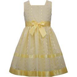 Little Girls Eyelet Ribbon Dress