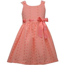 Bonnie Jean Little Girls Gingham Eyelet Dress