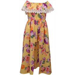 Bonnie Jean Big Girls Floral High Low Dress