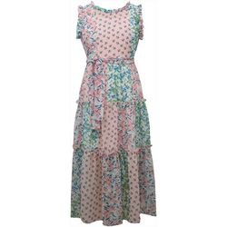 Big Girls Floral Patchwork Maxi Dress
