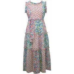 Big Girls Floral Patchwork Maxi Dress