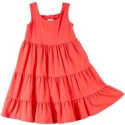 Bonnie Jean Big Girls Solid Tier Dress