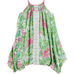 Little Girls Floral Crochet Sundress