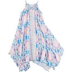 Bonnie Jean Big Girls Damask Crochet Sundress