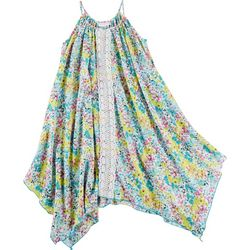 Bonnie Jean Big Girls Painted Floral Crochet Sundress