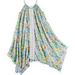Big Girls Painted Floral Crochet Sundress