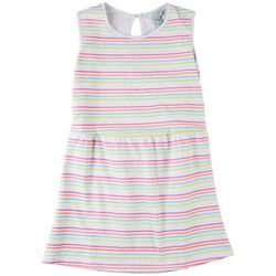 4 Hearts Big Girls Striped Dress