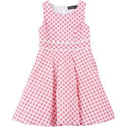 Big Girls Sleeveless Floral Eyelet Dress