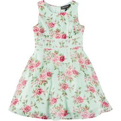 Trixxi Big Girls Sleeveless Floral Dress