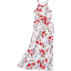 Big Girls Floral Sleeveless Maxi Dress