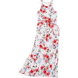 Big Girls Floral Sleeveless Maxi Dress