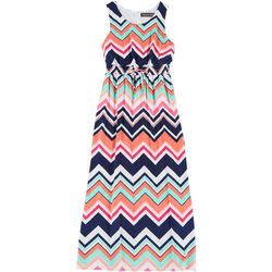 Trixxi Big Girls Sleeveless Chevron Maxi Dress