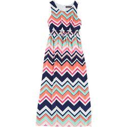 Big Girls Sleeveless Chevron Maxi Dress