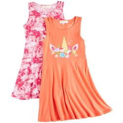 Big Girls 2-pk. Unicorn Tie Dye Dress Set