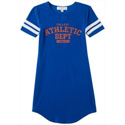 No Comment Big Girls College Game Day Blue T-Shirt Dress