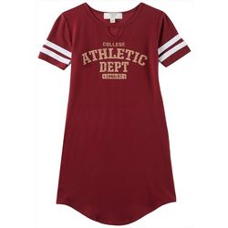 No Comment Big Girls College Game Day Garnet T-Shirt Dress