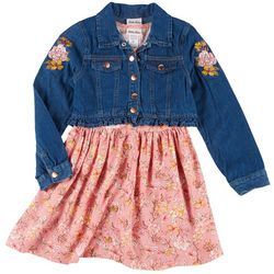 Little Girls 2-pc. Floral Dress & Jacket