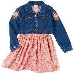 Little Girls 2-pc. Floral Dress & Jacket