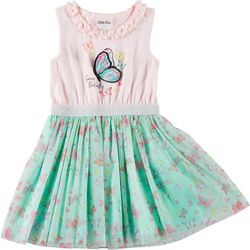 Little Lass Little Girls Butterfly Tutu Dress