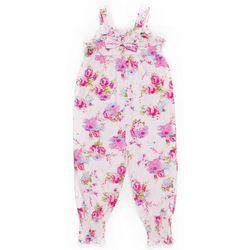 Little Girls Floral Jumpsuit