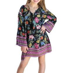 Angie Girl Big Girls Floral Print Dress