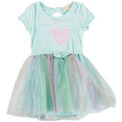 Btween Little Girls Mermaid Sequin Tutu Dress