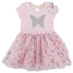 Big Girls Butterfly Tutu Dress & Keychain