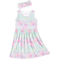 Freestyle Little Girls Tie Dye Dress