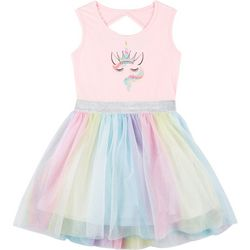 Freestyle Little Girls Unicorn Tutu Dress