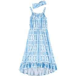 Freestyle Big Girls Tie Dye High-Low Dress