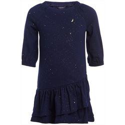 Little Girls Glittery Drop Waist Dress
