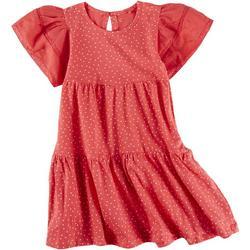 Little Girls Dot Tier Dress