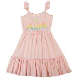 Sweet Butterfly Little Girls Aloha Tier Dress