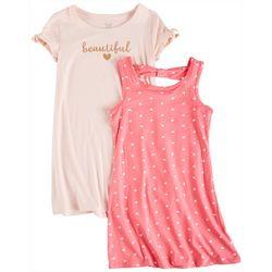Sweet Butterfly Little Girls 2-pk. Beautiful Heart Dress Set
