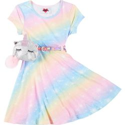 RMLA Little Girls Tie Dye Dress With Belt