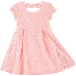 RMLA Little Girls Short Sleeve Lace Dress
