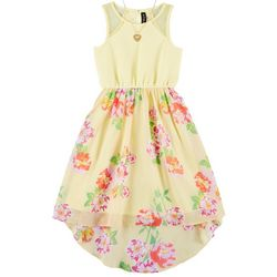 RMLA Big Girls Sleeveless Floral Hign Low Dress