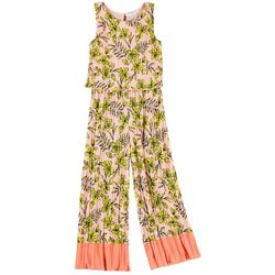 Sunset Sky Big Girls Floral Pleated Jumpsuit