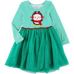 Little Girls Penguin Stripe Tutu Dress