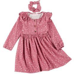 Little Girls Polka Dot Print Dress